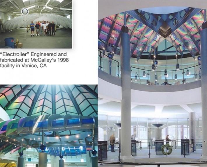 """Kalamazoo Public Library """"Electrolier"""" photo montage"""