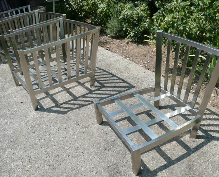 Frames of two chair styles