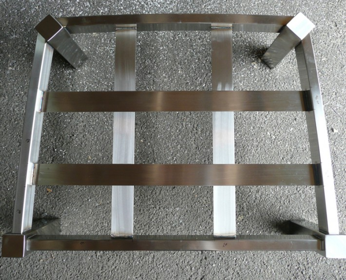 Stainless steel ottoman frame