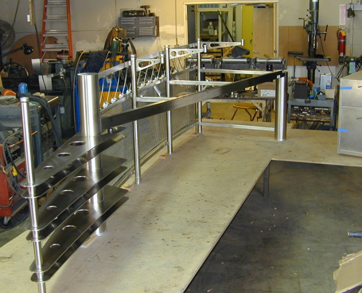 Prefabrication of SS desk at McCalley facility