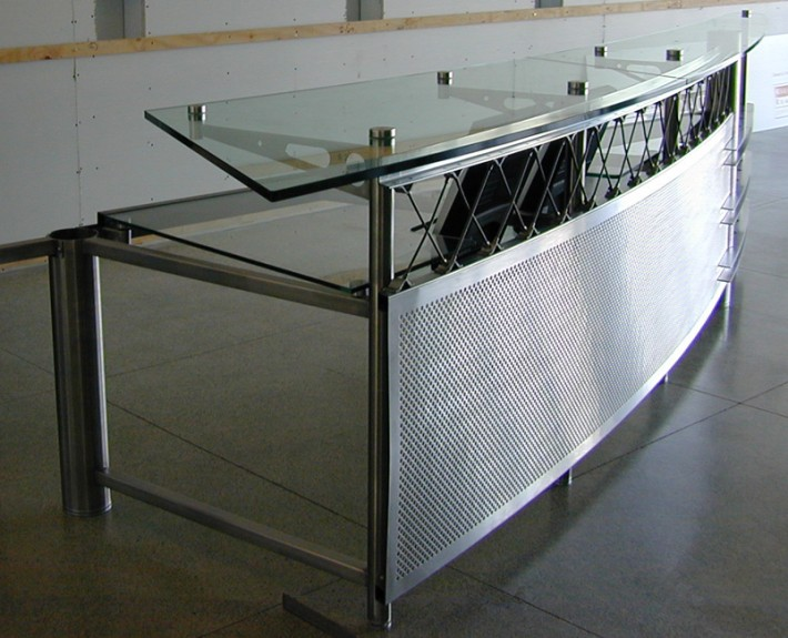 On-site fabrication of desk