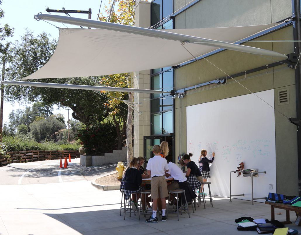 ... Retractable Awning Designed By Geoffrey Von Oeyen For Project Idea And  Realization Lab (PIRL) ...