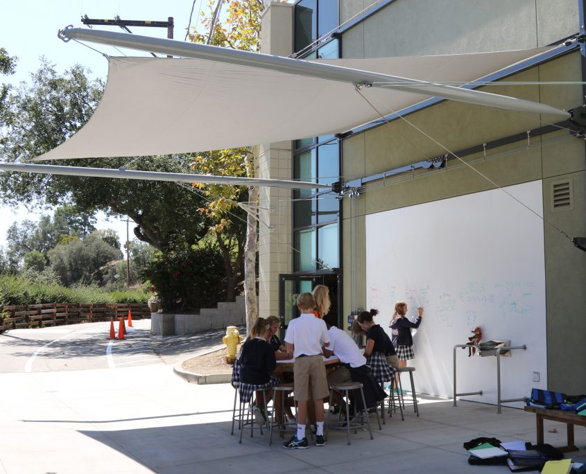 Retractable Awning Designed by Geoffrey von Oeyen for Project Idea and Realization Lab (PIRL)